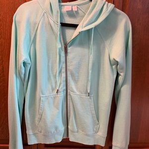 Nordstrom BP mint zip up sweatshirt